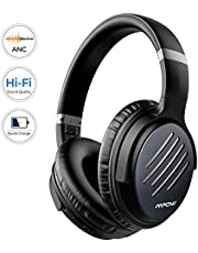 Mpow [2019 Upgrade] Noise Cancelling Headphones, Hi-Fi Sound Deep Bass Bluetooth Headphones Over Ear, Quick Charge 30Hrs Playtime Wireless Headphones with CVC 6.0 Mic, for TV/PC/Cellphone/Travel/Work