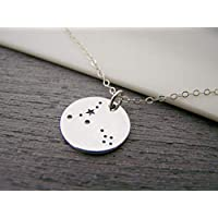 Pisces Zodiac Constellation Necklace - Sterling Silver - Astrology Necklace - Gift for Her