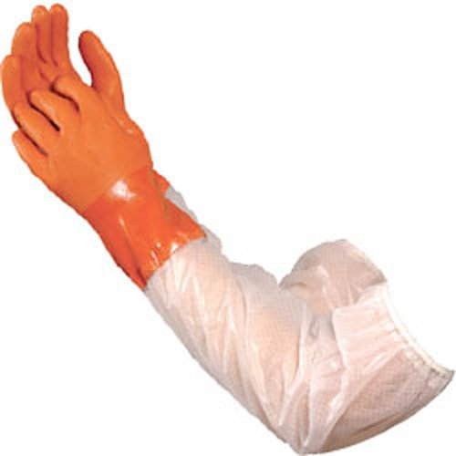 Atlas Gloves - 26'' Double-Dipped PVC Glove W/Extended PVC Sleeve (Size: L) (12 Pairs of Gloves) - CWC-510642 by Miller Supply Inc (Image #1)