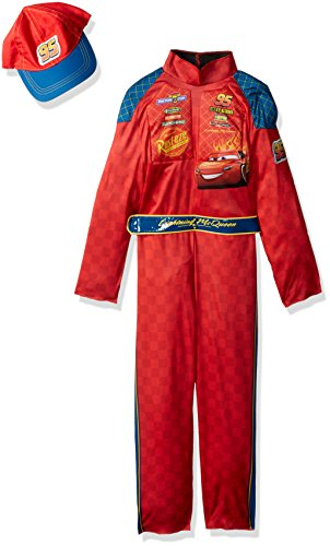 Cars Halloween Costume (Cars 3 Lightning Mcqueen Classic Toddler Costume, Red, Large (4-6))