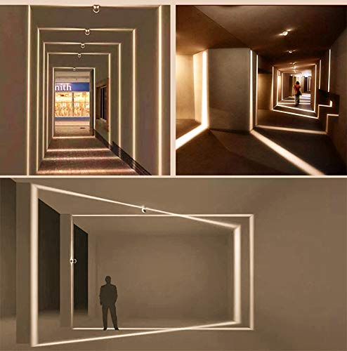 LED Window Light, Corridor Garage Door Frame Lighting, 10 Watt, Warm White 3000K, 900 Lumens Residential & Commercial Sconce Lighting, Outdoor Waterproof Landscape Lamp, 1 Pack by inShareplus (Image #6)