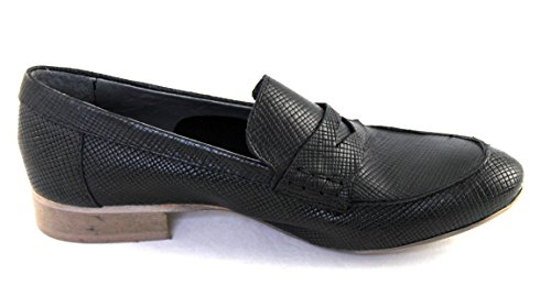 Loft Damenschuhe Shoe Slipper Loafers Made in Italy weiches Leder 56071 schwarz