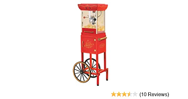 Amazon.com: Nostalgia Electrics CCP-300 Popcorn Cart with Pill our Drawer, 2-Ounce, Kettle Red: Electric Popcorn Poppers: Kitchen & Dining