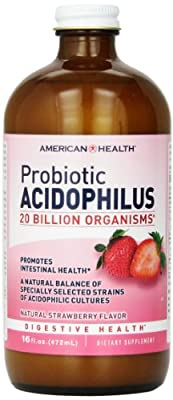 American Health - Probiotic Acidophilus Culture Natural Blueberry Flavor