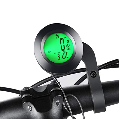 KAZOLEN Bike Computer Multi-Functions Bicycle Speedometer Odometer Wired Cycling Computer Waterproof with LCD 3 Colors Backlight