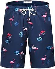 APTRO Men's Swim Shorts Quick Dry Swim Trunks Palm Tree Bathing Suit with Mesh Li