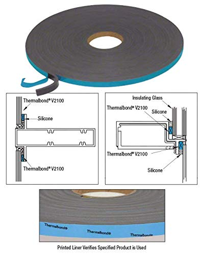 Norton V210638 3//16 x 3//8 V2100 Thermalbond Structural Glazing Spacer Tape