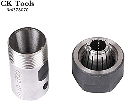 TLBBJ Tool Holder ER20 Collet Arbre Moteur Chuck ER ER11 ER16 ER25 ER32 du Porte-Outil Rod Extension du mandrin de per/çage CNC Milling B10 12 18 Durable in Use. Hole Diameter : 5mm ER11