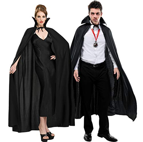 AMSCAN Full Length Black Cape Halloween Costume Accessories for Adults, One Size