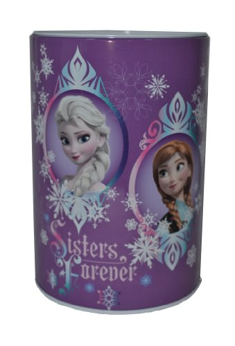 Officially Licensed Disney Frozen Tin Saving Bank (Purple)