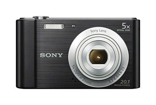 Sony DSCW800/B 20.1 MP Digital Camera - Usb Cable Camera Zoom