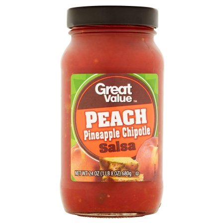 Great Value Peach Pineapple Chipotle Salsa 24 oz (Pack of 3)