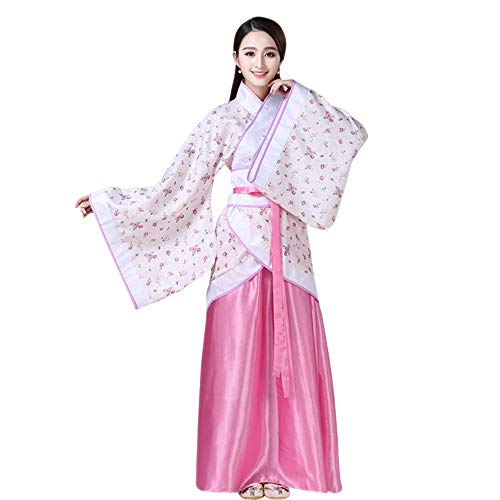 XFentech Women's Ancient Chinese Style Clothes Costume Printing Retro Hanfu Tang Suit Cosplay Performances Costume, -