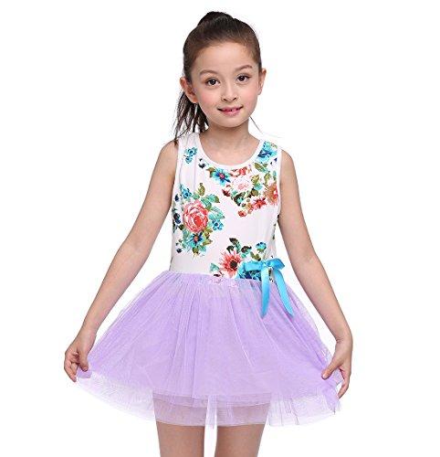 Asymmetrical Floral Prom Dress - 7