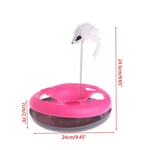 70%OFF LoXTong Catch the Mouse Motion Cat Toy Interactive Cat Feather Toys