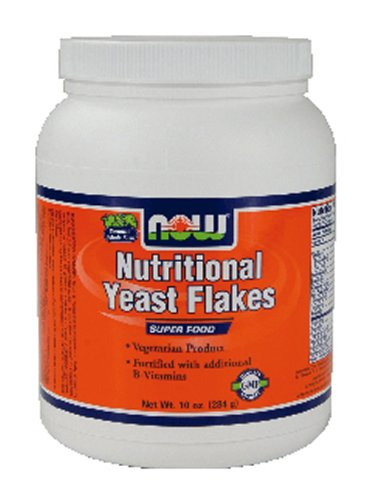 NOW Nutritional Yeast Flakes 10 Oz ( Multi-Pack) by NOW Foods