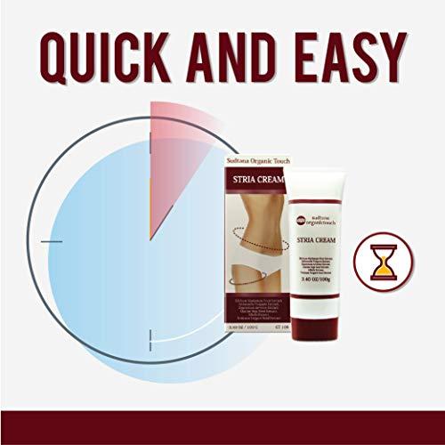 STRIA Natural Stretch Marks, Scar & Dark Spot Remover | Stretch Mark Cream for Skin Hydration, Exfoliation, Tightening & Collagen Boost | Pregnancy Belly Care for Prenatal-Postnatal & Pregnant | 3 pcs by GreenTouch (Image #7)