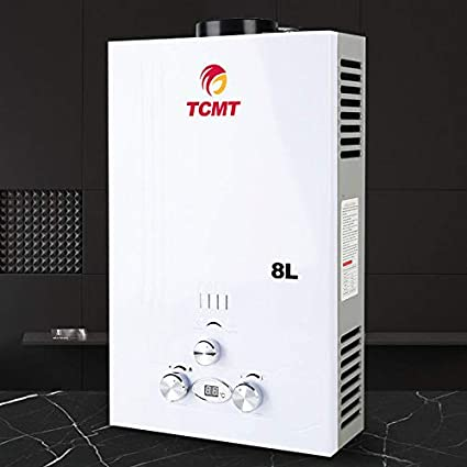 18L 3600W Tankless Natural Gas House Instant Hot Water Heater Boiler Shower Kit