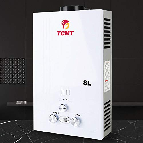 Tengchang 8L LPG Propane Gas Hot Water Heater Tankless Boiler Instant for Bath House w/Shower - Controlled Tankless Water Heater