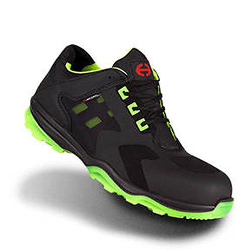 Heckel Zapatos bajos de seguridad RUN-R Edición ACE S1P libre de metal, extremadamente ligera, diferentes tallas negro / verde