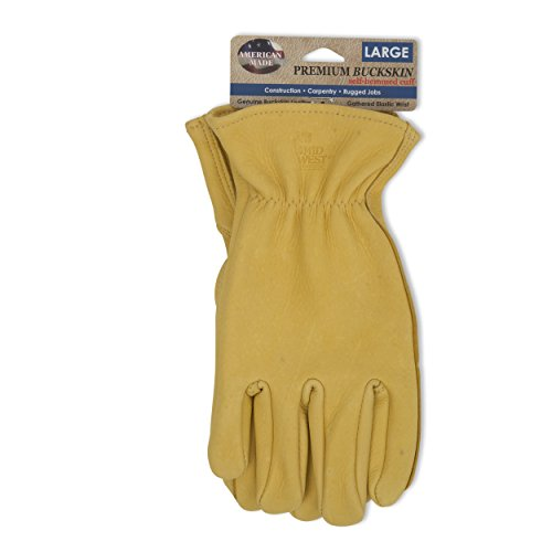 American Made Genuine Deerskin Buckskin Leather Work Gloves , 850, Size: Large by Midwest Gloves & Gear (Image #3)