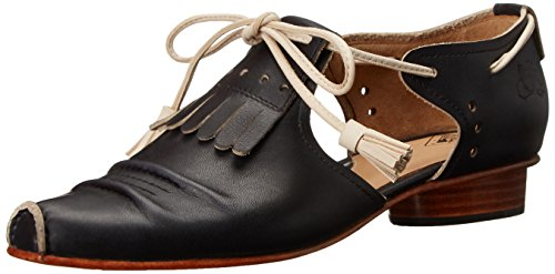 John Fluevog Womens Mile End Balletto Nero / Beige