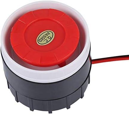 Alarmsirene hoorn mini bedrade alarmsirene hoorn 120dB inbraakalarmsirene 12V DC pizo elektronisch zoemeralarm Elektrische beveiligingssirene hoorn voor alarmsysteem voor