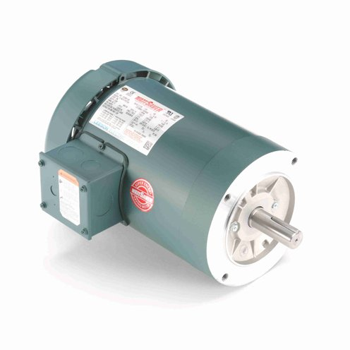 Leeson Electric 122166.00 - General Purpose Motor - 3 ph, 1-1/2 hp, 3600 rpm, 208-230/460 V, 143TC Frame, Totally Enclosed Fan Cooled Enclosure, 60 Hz, Round ()