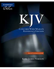 KJV Concord Wide Margin Reference Bible, Black Edge-lined Goatskin Leather, KJ766:XME
