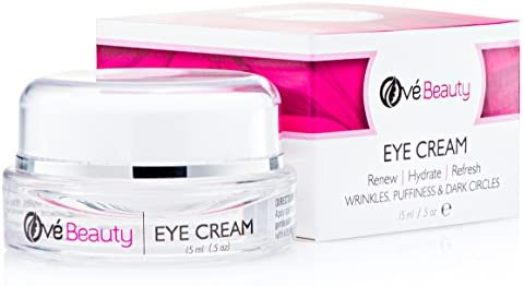 EYE CREAM FOR WRINKLES, DARK CIRCLES and PUFFINESS with Vitamin C and Glycolic Acid. Enriched with Coenzyme Q10 for Eye Tightening & Superior Anti-wrinkle Results