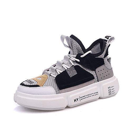 QQWWEERRTT Moda Sneakers Mujeres Nuevo Verano Universal Transpirable Pareja Mujer,Femenino,38.5,Gris