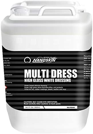 Excessive Gloss Water Based mostly, Silicone White Tire Dressing [NA-MDS640], 5 Gallons