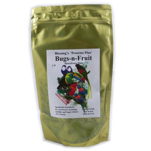 (Blessings Bugs-N-Fruit Low-Iron Insectivore Diet 1-Lb.)