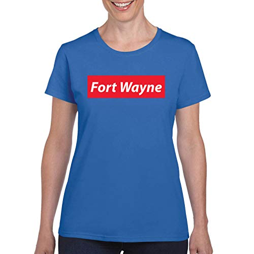 Red Box Logo Fort Wayne City Pride Womens Graphic T-Shirt, Royal, Small