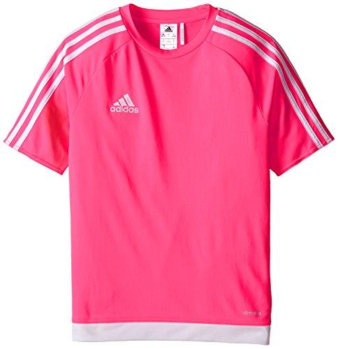 (adidas Estro 15 Jersey (Little Big Kids), Solar Pink/White,)