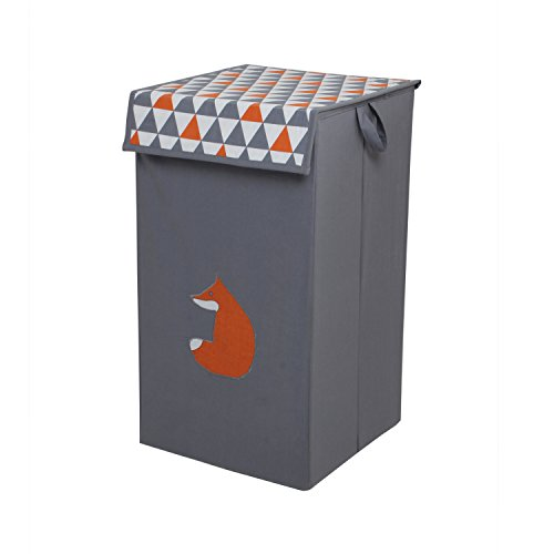 Bacati Playful Foxs Hamper, Orange/Grey by Bacati