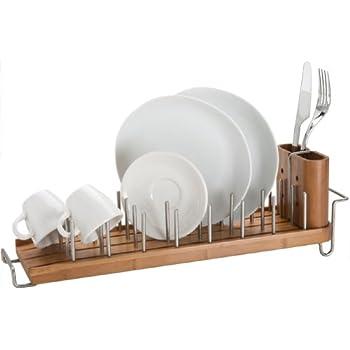 Better Housewares DrainFOREST Bamboo Dish Rack/Drainer  sc 1 st  Amazon.com & Amazon.com - Better Housewares DrainFOREST Bamboo Dish Rack/Drainer ...