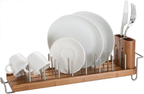 Better Housewares Drainforest Bamboo Dish Rack Drainer Co Uk Kitchen Home