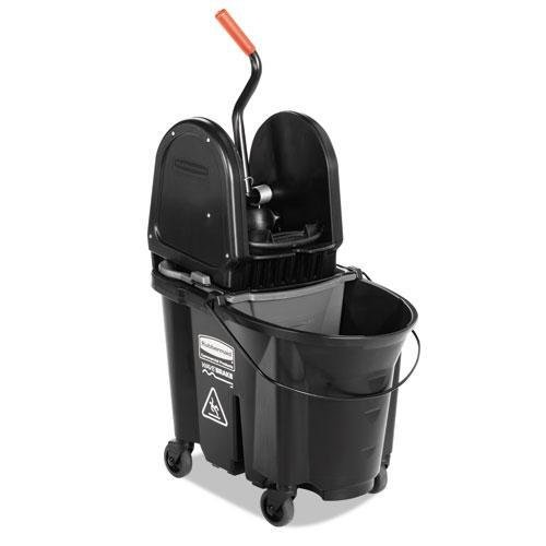 RCP1863898 Executive WaveBrake Down-Press Mop Bucket, Black, 35 Quarts (35 Quart Down Press)