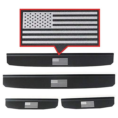 Sukemichi Jeep JL Entry Guard USA Flag, Aluminum Alloy Door Sill Plate Protector Scuff Plate Protector for Wrangler JL Sahara Rubicon 4 Doors