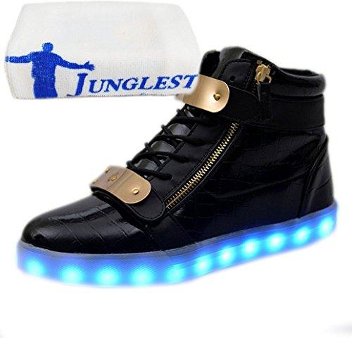 Fiesta a Luz con Deportivos Carga Para Danza Toalla con Ni o Peque junglest Ni Para Presente a LED Zapatos Velcro c14 Brillantes Zapatillas Baile P 6ZFXHx