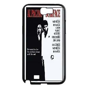 Al-Pacino-Scarface Samsung Galaxy N2 7100 Cell Phone Case Black Qxjei