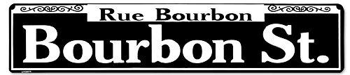 Rue Bourbon Tin Sign 24 x 5in - Street On Bourbon Stores