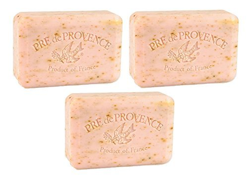 - Pre De Provence Rose Petal Bar Soap 250g 3 Pack