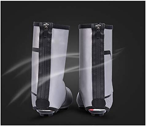 サイクリングシューズカバー バイキング防水オーバーシューズ防風耐候性ヘビーデューティー反射保護カバー 防水レインブーツシューズカバー (Size : XL)