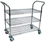 John Boos CWC-1836-3 Wire Business Cart, Chrome, 36'' Length x 18'' Width