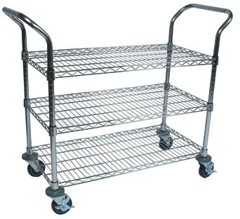 John Boos CWC-1836-3 Wire Business Cart, Chrome, 36'' Length x 18'' Width by John Boos