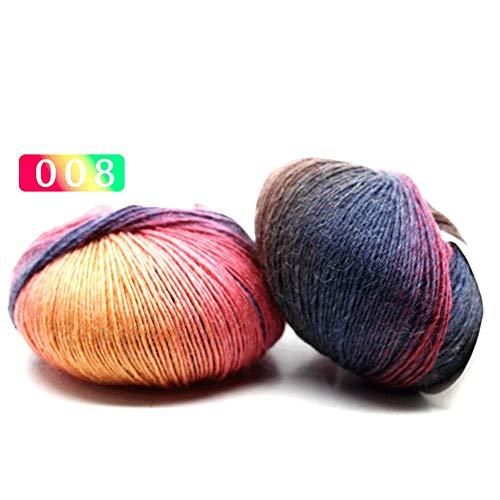 (Wool Yarn - Mixed Job Lot 15 Colour 50g 10 Knitting Crochet Milk Soft Baby Wool Yarn - Brand Sampler Assorted Tricoter Percent Wool Weight Blanket Holder Tapestry Knitting Thread Self Ya)