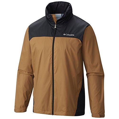 Columbia Men's Glennaker Lake Rain Jacket, Delta/Black, Small - Nylon Zip Front Jacket