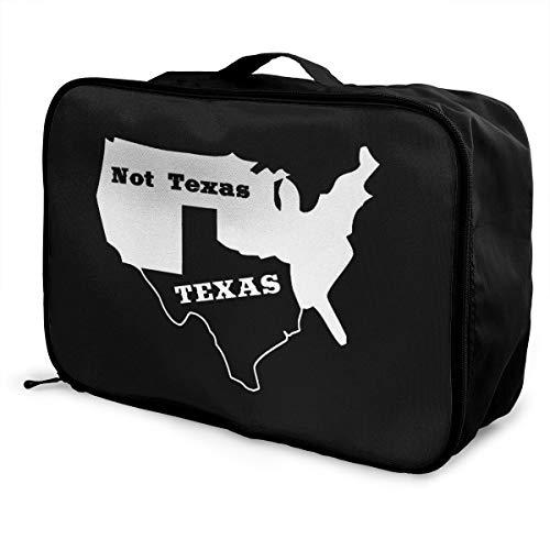 (PLOR Texas Not Texas Secede Austin Dallas Oil Longhorn Travel Duffel Bag Portable Weekend Luggage Bag Backpack Funny Novelty)